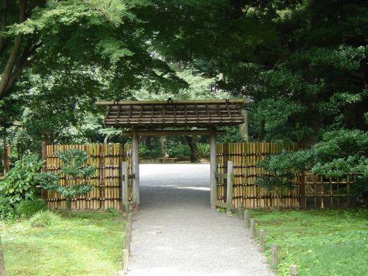 Portail en bambou du jardin japonais de rikugien tokyo for Petit portail de jardin