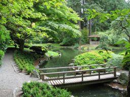 Le ponts du jardin botanique de portland - Passerelle en bois pour jardin ...