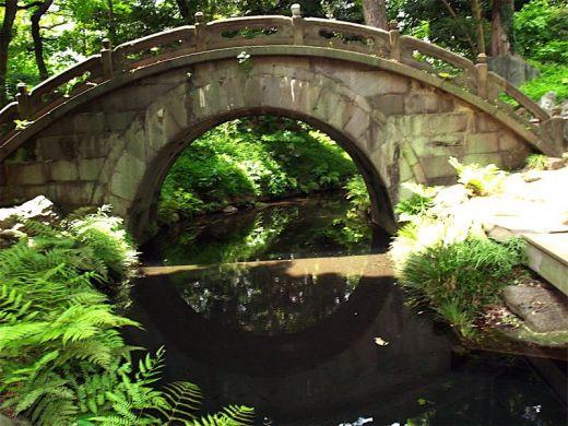 Ponts et passerelle du jardin japonais de koishikawa korakuen for Pont jardin zen